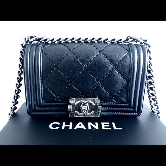 CHANEL Handbags - CHANEL Small Boy Chanel Handbag Black Ruthenium